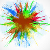 Abstract background-watercolor paint splash. Stock Images