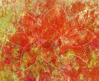 Abstract background, watercolour and flowers Stock Photos