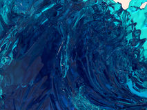 Abstract background Wave. Abstract 3D graphics, fractal filled with clear glass Stock Image