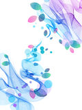 Abstract background with wave and leaves. Illustration Stock Image