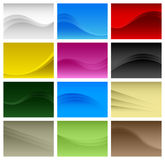Abstract Background Wave Vector A4. A set of colofrul abstract waves which is designed in A4 size Royalty Free Stock Photos