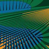 Abstract background with waves and lines. Wave of sharp lines green blue yellow abstract background. Vector illustration royalty free illustration