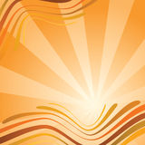 Abstract background with waves in orange colour Royalty Free Stock Image