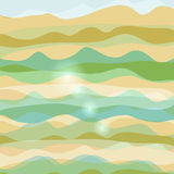 Abstract background with waves pastel colors. Suitable for site design, postcards, background stock illustration