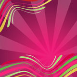 Abstract background with waves in pink colour Stock Images