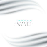 Abstract background with waves. Vector abstract background with blurred waves on white Stock Images