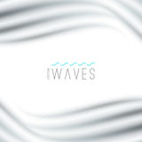 Abstract background with waves. Vector abstract background with blurred waves on white Stock Photos