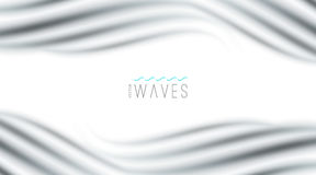Abstract background with waves. Vector abstract background with blurred waves on white Royalty Free Stock Photo