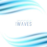 Abstract background with waves Royalty Free Stock Images