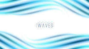 Abstract background with waves Royalty Free Stock Photos