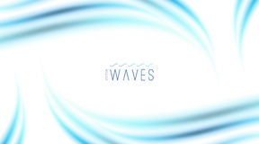 Abstract background with waves Royalty Free Stock Image