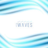 Abstract background with waves Stock Photography