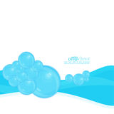 Abstract background with waves of water and Royalty Free Stock Photography