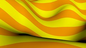 Abstract background with waving of colorful stripes. 3d rendering Royalty Free Stock Images