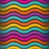 Abstract Waving Colors Background Illustration Vector Illustration