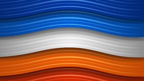 Abstract background of wavy stripes. Abstract background of wavy colored stripes with shadows Stock Illustration