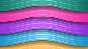 Abstract background of wavy stripes. Abstract background of wavy colored stripes with shadows Royalty Free Illustration