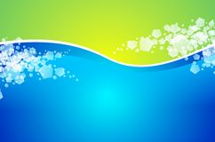 Abstract Background. Abstract Wavy Green and Blue Background Illustration with Some Particles Stock Photos
