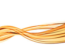 Abstract background wavy lines. Gold abstract background wavy lines on white background Royalty Free Stock Images