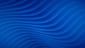 Abstract background with wavy lines. In blue colors vector illustration