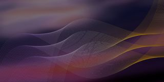 Abstract background with wavy lines. Purple abstract background with wavy lines stock illustration