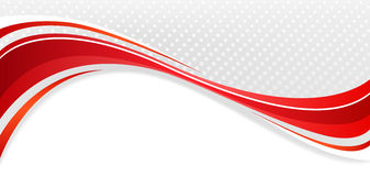 Abstract background. Abstract wavy background. The red lines on a gray background Royalty Free Stock Photography