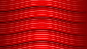 Abstract background of wavy stripes. Abstract background of wavy red stripes with shadows Vector Illustration