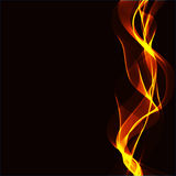 Abstract background with wavy ribbons of a fire Stock Photo