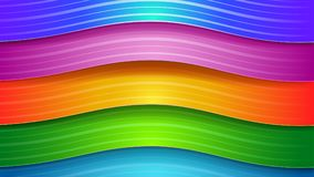 Abstract background of wavy stripes. Abstract background of wavy colored stripes with shadows Vector Illustration