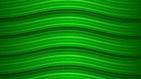 Abstract background of wavy stripes. Abstract background of wavy green stripes with shadows Vector Illustration