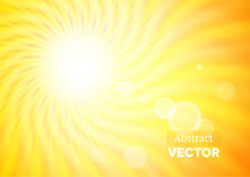 Abstract background with wavy sunshine Royalty Free Stock Image