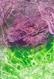 Abstract background. With wax encaustic effect Stock Photo