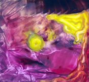 Abstract background. With wax encaustic effect Royalty Free Stock Images