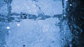 Abstract background wet concrete blue stock video footage