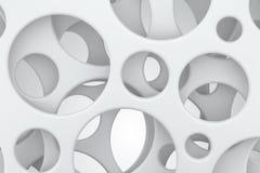abstract background white Στρογγυλές τρύπες στα πλαστικά φύλλα τρισδιάστατη απόδοση Στοκ εικόνα με δικαίωμα ελεύθερης χρήσης