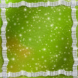 Abstract background with white beautiful pearls. Abstract green background with white beautiful pearls Royalty Free Stock Image