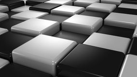 Abstract Background of White and Black Cubes stock video footage