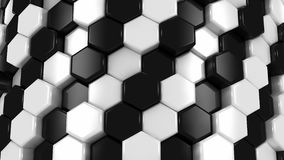 Abstract Background of White and Black Honeycombs stock footage