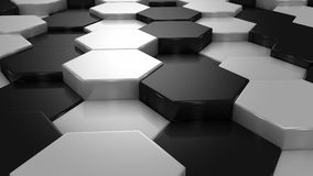 Abstract Background of White and Black Honeycombs stock video