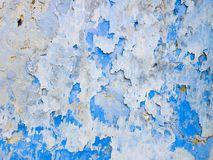 Abstract background from white and blue exfoliating paints. With multi-layered effect Royalty Free Stock Images
