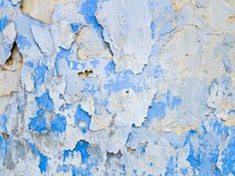 Abstract background from white and blue exfoliating paints. With multi-layered effect Stock Photos