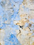 Abstract background from white and blue exfoliating paints. With multi-layered effect Stock Image