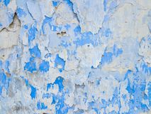 Abstract background from white and blue exfoliating paints. With multi-layered effect Royalty Free Stock Photography
