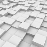 Abstract background: white boxes. Three-dimensional illustration of background with white boxes vector illustration