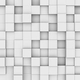 Abstract background: white boxes. Three-dimensional illustration of background with white boxes stock illustration