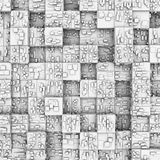 Abstract background: white boxes Royalty Free Stock Photos