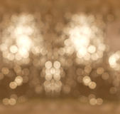 Abstract Background White and Brown Light Bokeh Circles used as Template to Mock up for Display Product for Christmas Celebration Royalty Free Stock Image