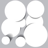 Abstract background with white circles. Eps10 vector illustration