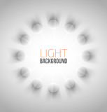 Abstract background with white circles Stock Image