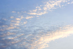 Abstract background of white clouds and blue sky Royalty Free Stock Photos